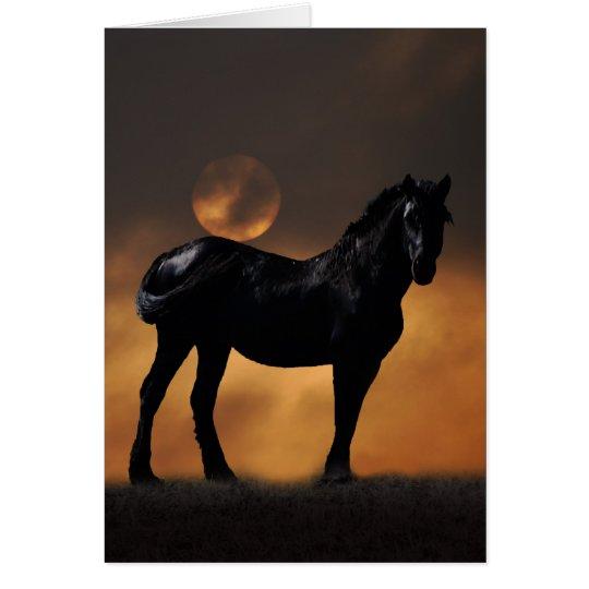 Majestic horse card