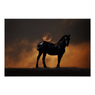 Majestic horse poster