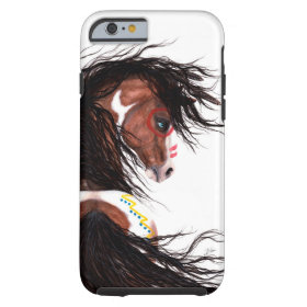 Majestic Horse Two Feather by Bihrle Cell Case Tough iPhone 6 Case
