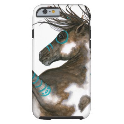 Majestic Horse War Paint by BiHrLe Tough iPhone 6 Case