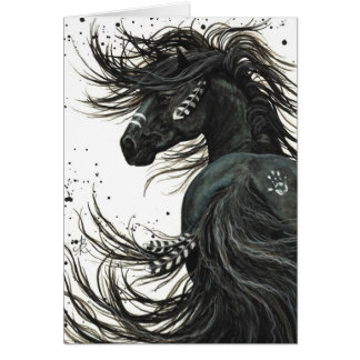 Majestic Horses By BiHrLe Greeting Card