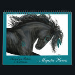 """Majestic Horses Calendar by BiHrLe<br><div class=""""desc"""">Majestic Horses Calendar - Paintings that are a part of an original series of Native American inspired horses.</div>"""