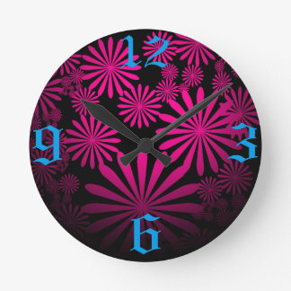 Majestic Hot Pink Round Clock