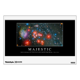 Majestic: Inspirational Quote Wall Sticker