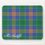 Majestic Irish Clan MacAuliffe Tartan Mouse Pad