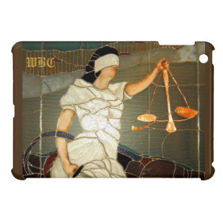 Majestic Lady Justice in Stained Glass Design iPad Mini Case