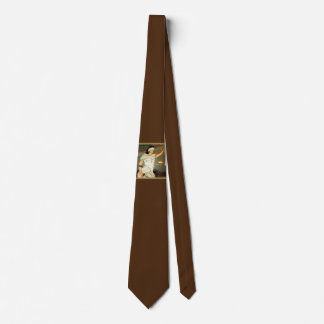 Majestic Lady Justice in Stained Glass Design Tie