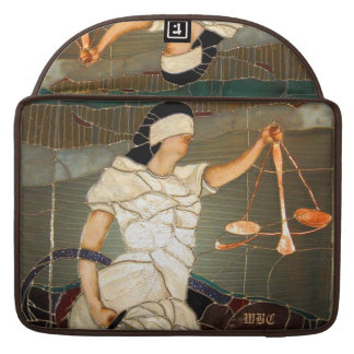 Majestic Lady Justice Portrait in Stained Glass Sleeve For MacBooks