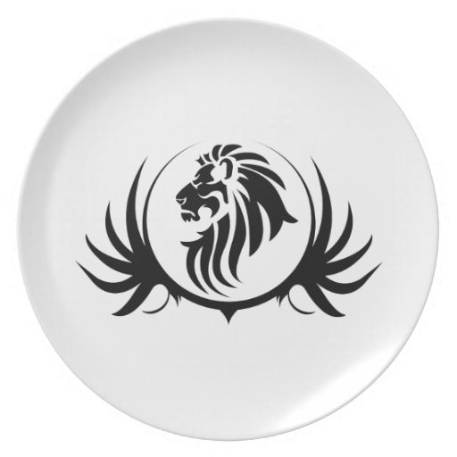 Majestic Lion Head Party Plate