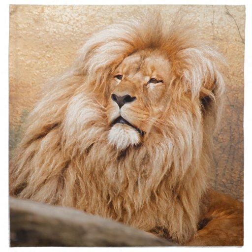 Majestic Lion Napkin