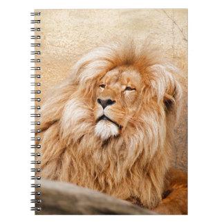Majestic Lion Spiral Note Books