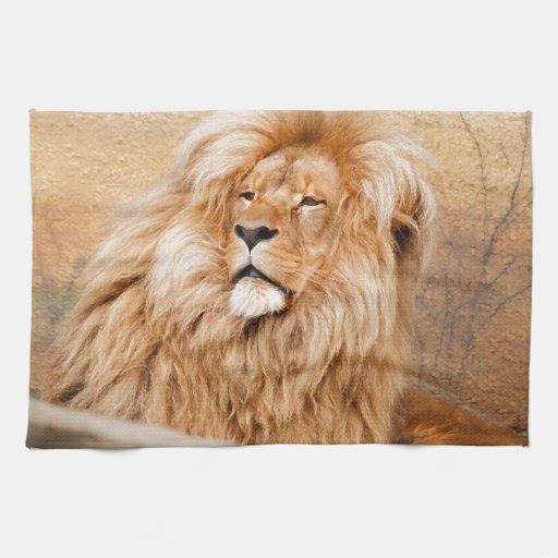 Majestic Lion Towels