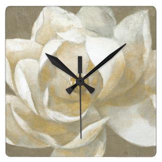 Majestic Magnolia Square Wall Clock