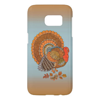 Majestic Male Turkey Fanned Tail Fall Leaves Samsung Galaxy S7 Case