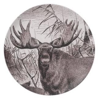 Majestic Moose Dinner Plate