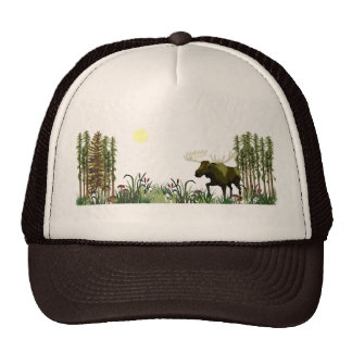 Majestic Moose Trucker Hat