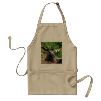 Majestic Moose Meadow Adult Apron