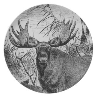 Majestic Moose ~ Richard Friese Melamine Plate