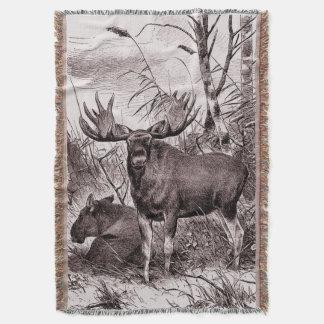 Majestic Moose ~ Richard Friese Throw Blanket