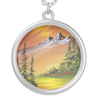 Majestic Mountain Round Pendant Necklace