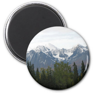 Majestic Mountains of Magnificence Button 2 Inch Round Magnet