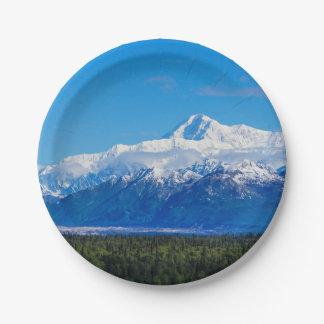 Majestic Mt McKinley Paper Plate
