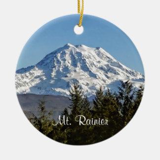 Majestic Mt. Rainier Ceramic Ornament