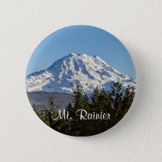 Majestic Mt. Rainier Pinback Button