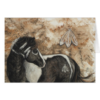 Majestic Mustang Horse by BiHrLe Card