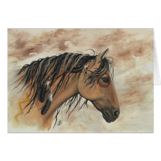Majestic Mustang Horses by BiHrLe Card