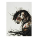 Majestic Mustang Pinto Horse by BiHrLe Poster