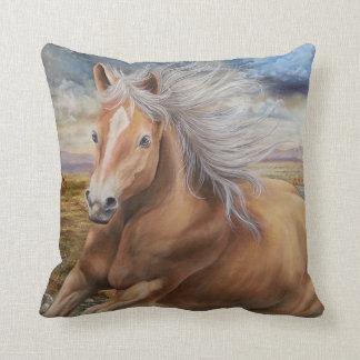 Majestic Mustang Throw Pillow