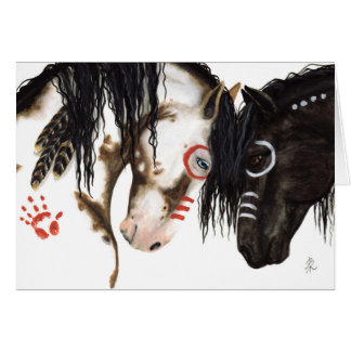 Majestic Native American Horses by BiHrLe Card