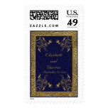 Majestic Navy and Gold Postage