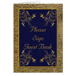 Majestic Navy and Gold Table Card card