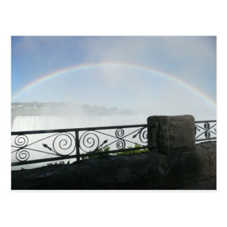 Majestic Niagara Falls Rainbow & Wrought Iron Postcard