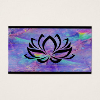 Majestic Opal Lotus Flower Business Card Design