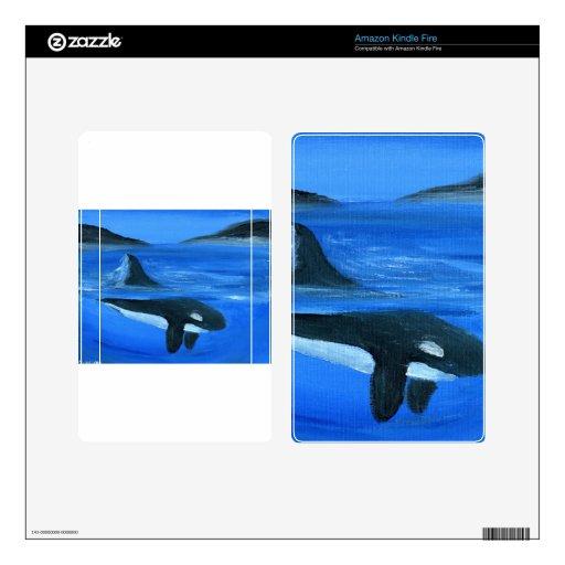 Majestic orca whale kindle fire skin