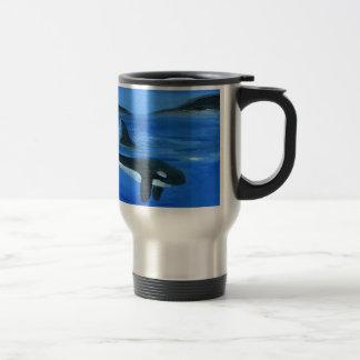Majestic orca whale travel mug