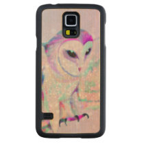 Majestic Owl Carved Maple Galaxy S5 Slim Case