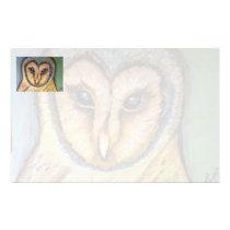 Majestic Owl horizontal stationery