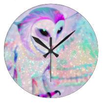 Majestic Owl Large Clock