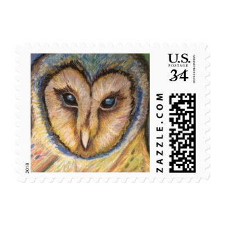 Majestic Owl Oil Pastel Stamp