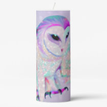 Majestic Owl Pillar Candle