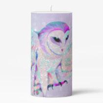 Majestic Owl Pillar Candle