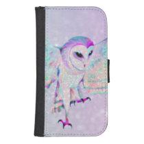 Majestic Owl Samsung S4 Wallet Case