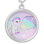 Majestic Owl Silver Plated Necklace