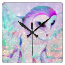 Majestic Owl Square Wall Clock