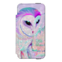Majestic Owl Wallet Case For iPhone SE/5/5s