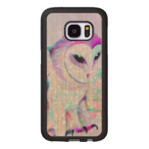 Majestic Owl Wood Samsung Galaxy S7 Case